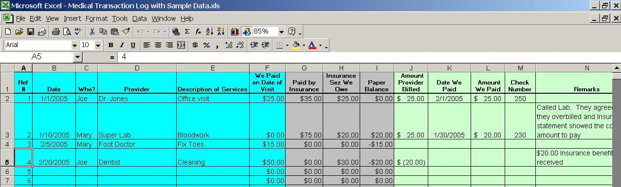 a simple system for managing medical expenses